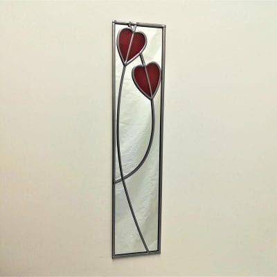 Deco Crossed Hearts Mirror