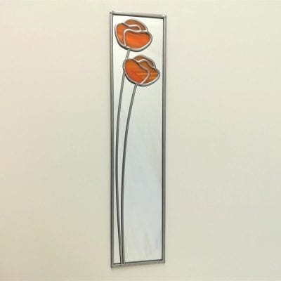 deco poppy mirror gift boxed