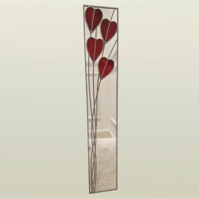 Crossed Hearts Deco Mirror