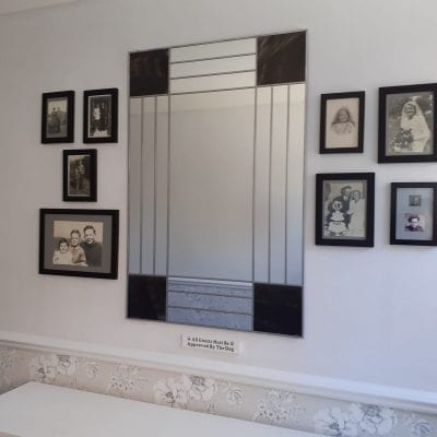 Deco Squares Mantle Mirror
