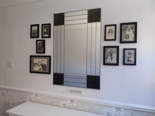 Deco Squares Mantle Mirror