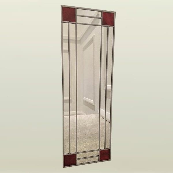 Art Deco Squares Mirror