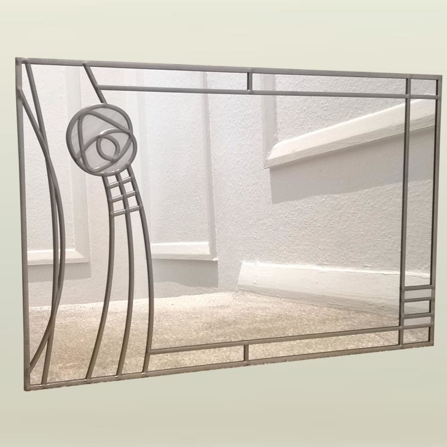 Mackintosh curved rose mirror