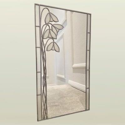nouveau mackintosh snowdrop mirror