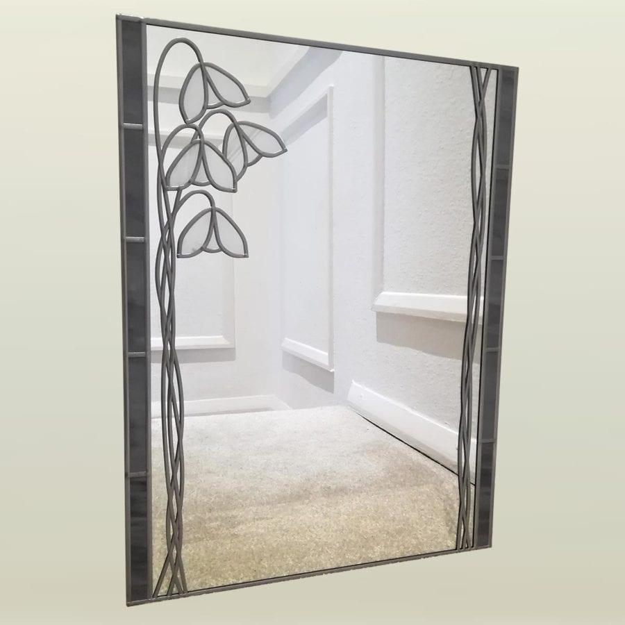 Nouveau snowdrop cloakroom mirror