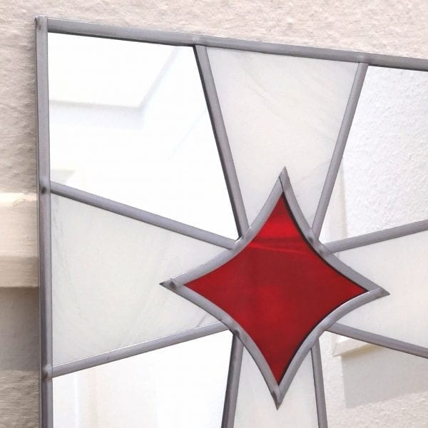 stained glass cross mirror