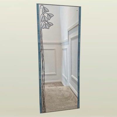 deco full length snowdrop mirror