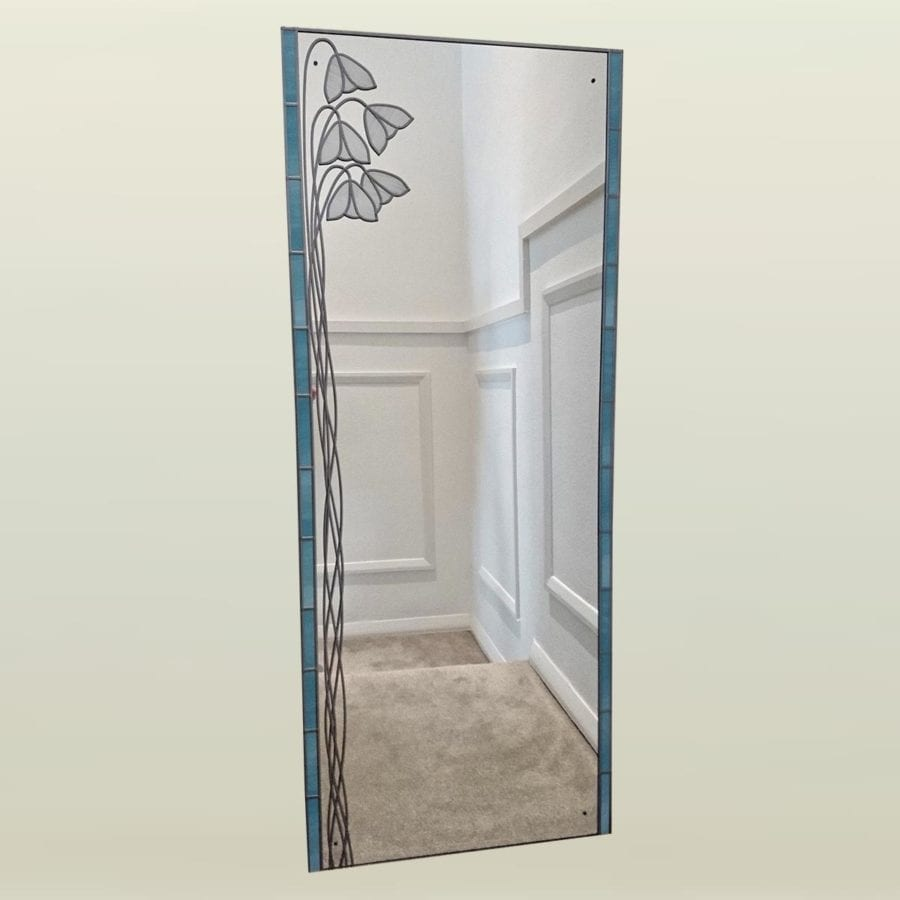 deco full length snowdrop mirror