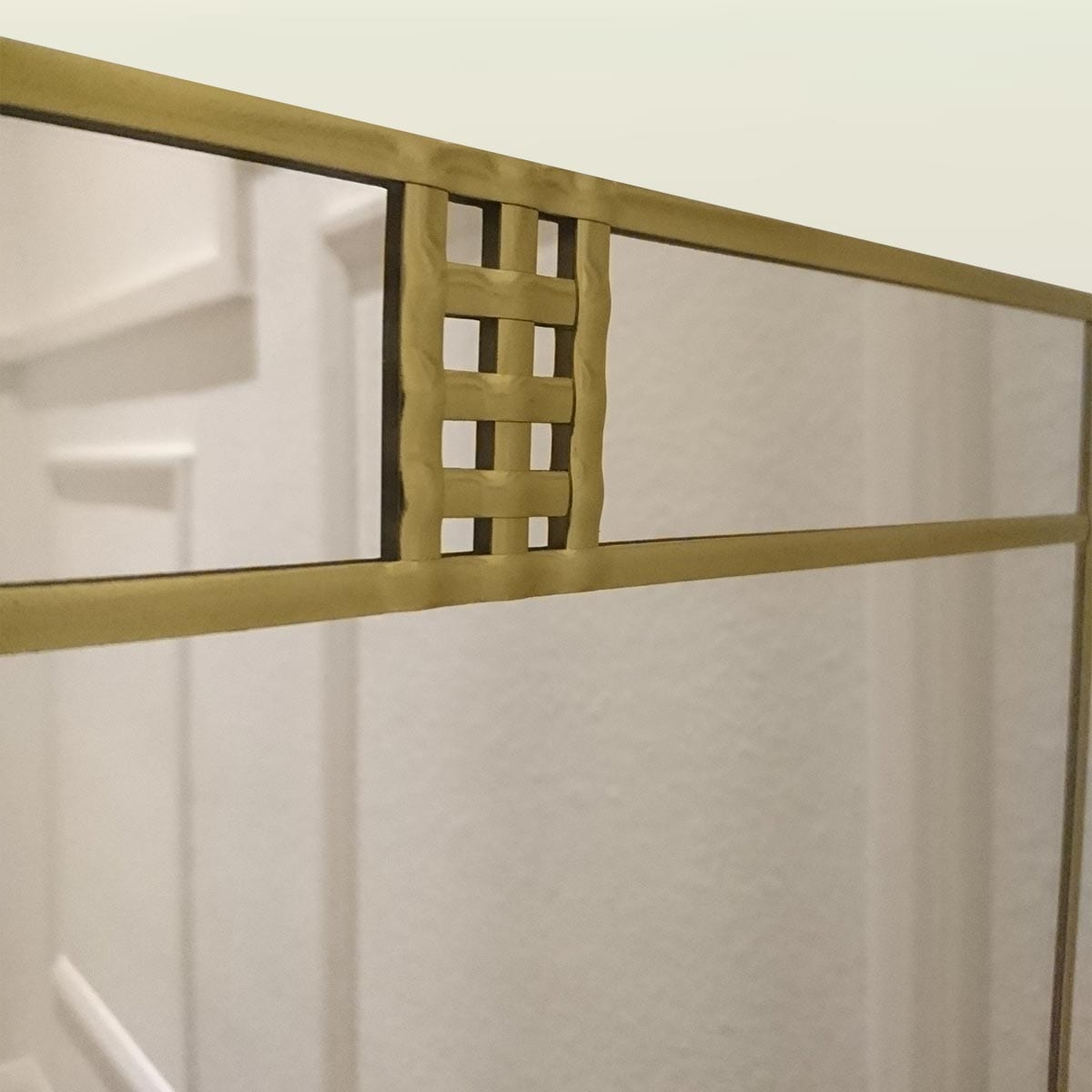 Art Deco Lines Wall Mirror 50x91cm 20in X 3ft Lawson Glassworks