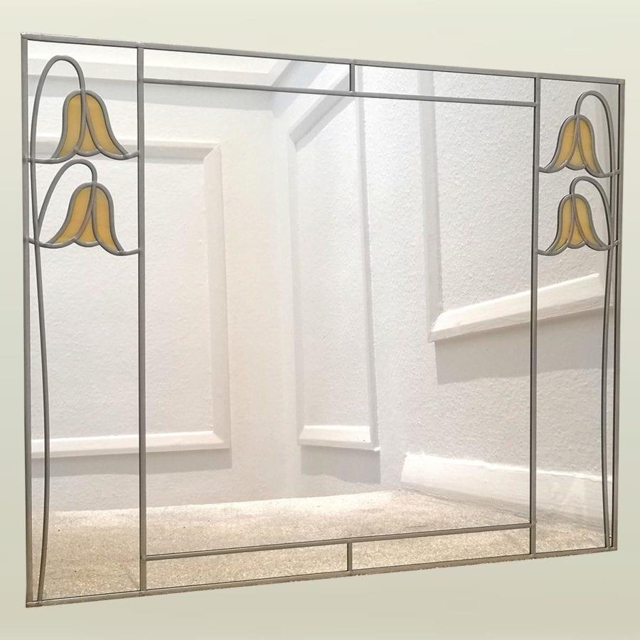 61x45cm twin bluebell butterscotch mirror