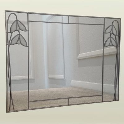 Twin Deco Snowdrop Mirror