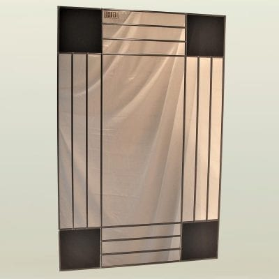 Art deco squares mantle mirror