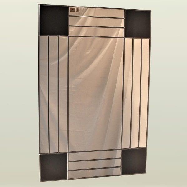 Art deco squares mantle mirror