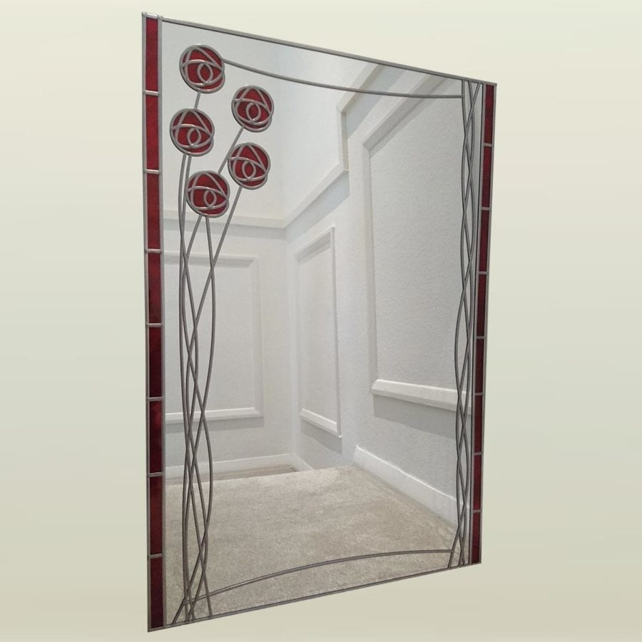 Large mackintosh rose mirror