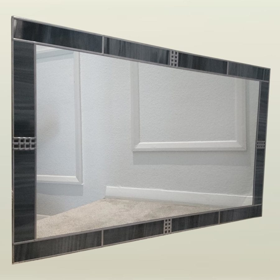 91x61cm decoframe storm grey mirror
