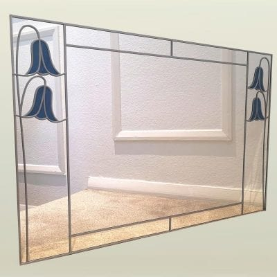 91x61cm twin bluebell mirror