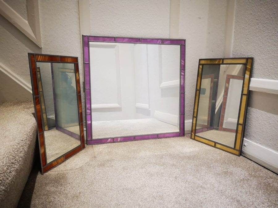 Stained Glass Border MIrror