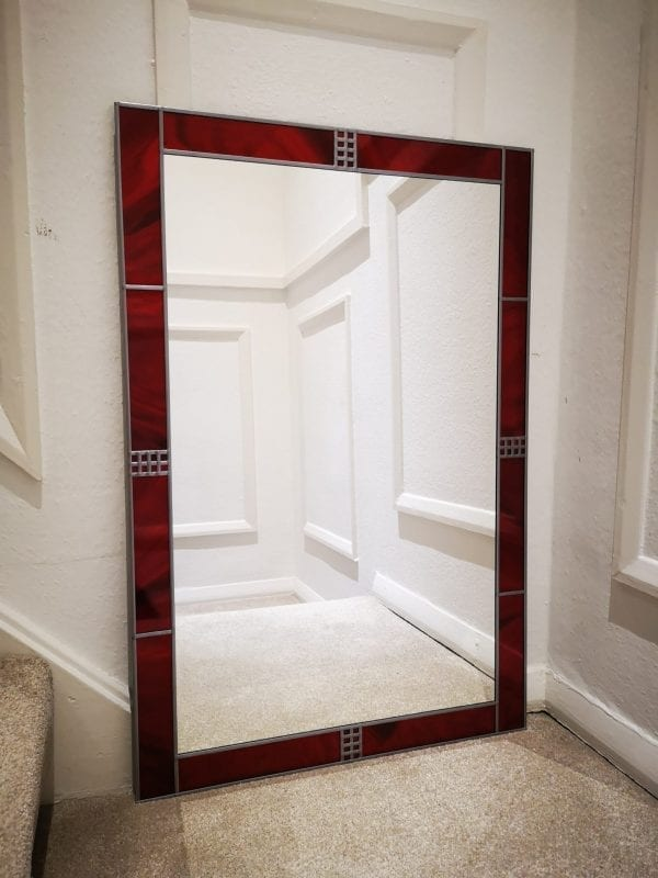 Deco Frame Mantle Mirror