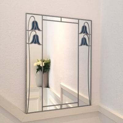 Deco Bluebell Mantle Mirror