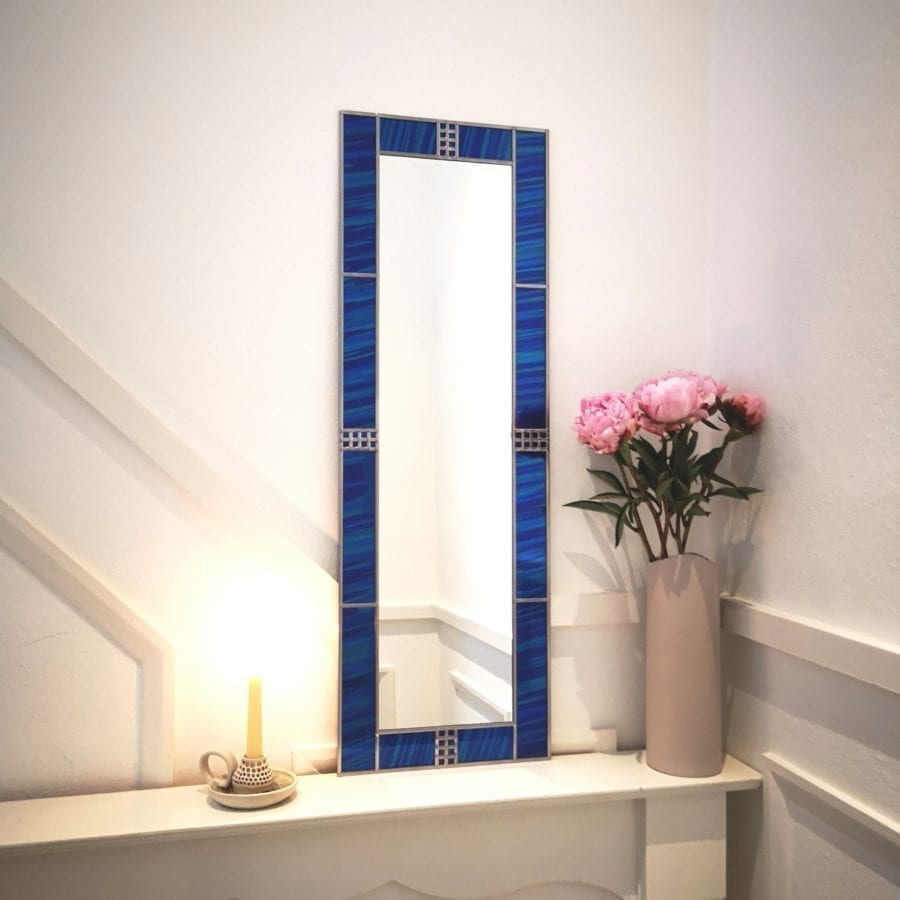 Art deco full length dress mirror
