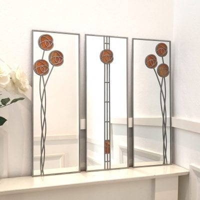 Mackintosh Rose Triptych Mirror