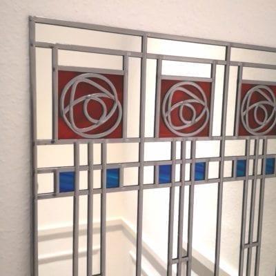 Five rose Art Deco mirror