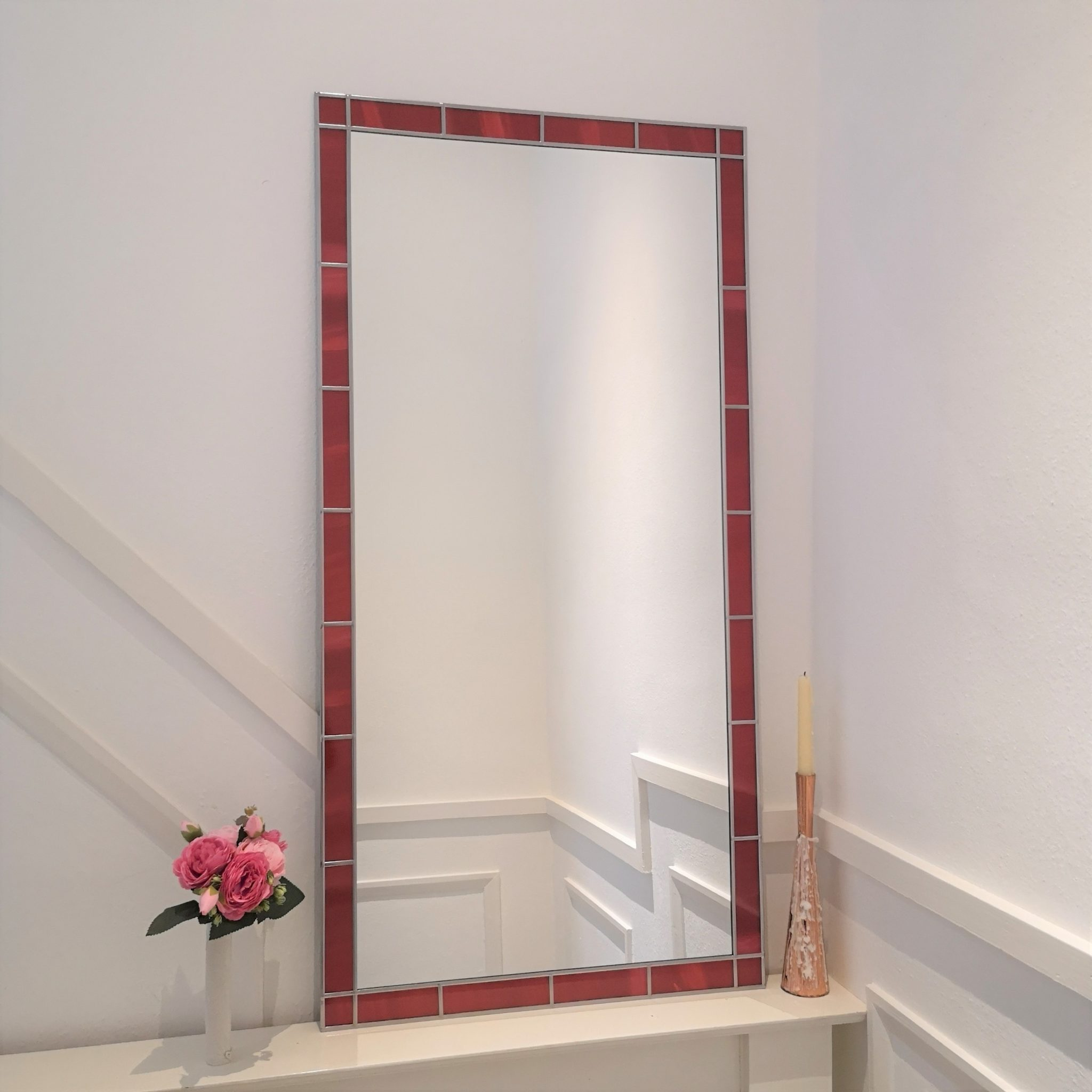 Stained Glass Border Mirror 45x61cm (18inx2ft) - Lawson ...