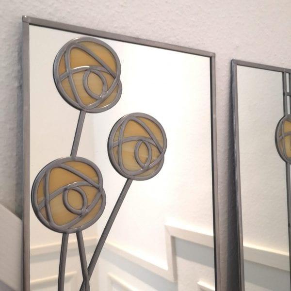 Mackintosh Rose Triptych Mirror