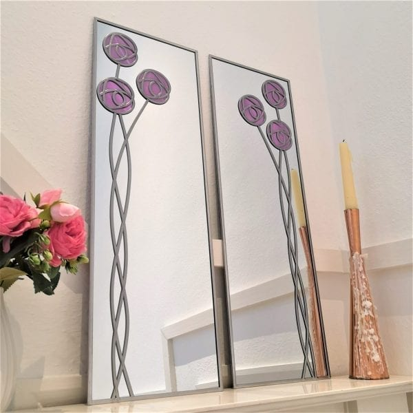 Mackintosh Rose Mirror Pair