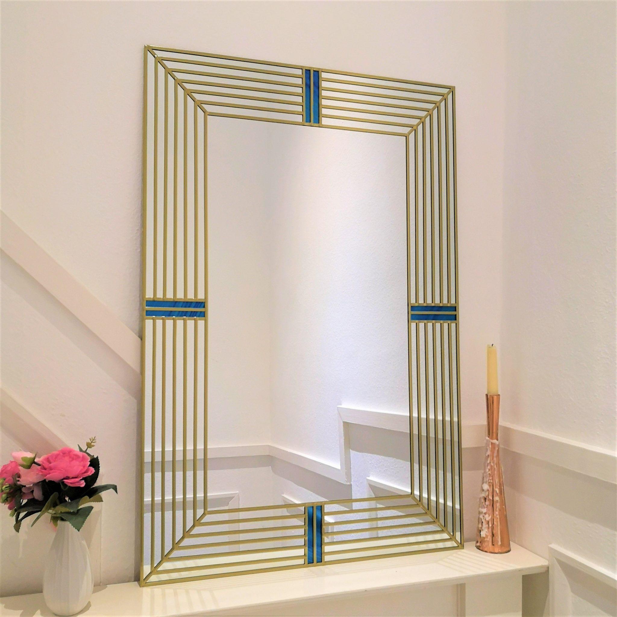 Art Deco Wall Mirror 61x91cm 2ftx3ft Lawson Glassworks
