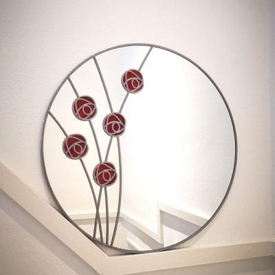 mackintosh rose circle mirror