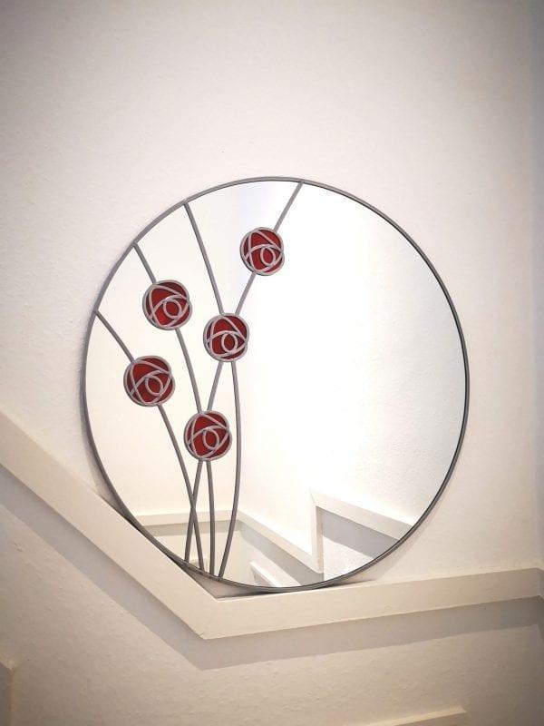 mackintosh rose circle mirror