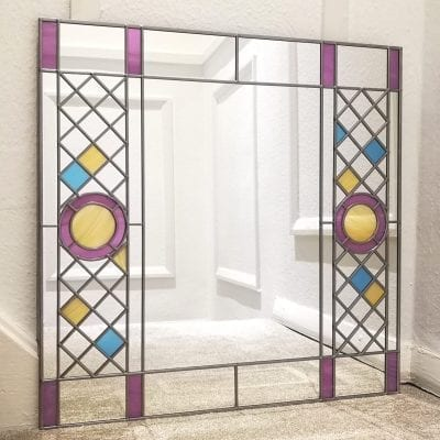 father ted stained glass mirror