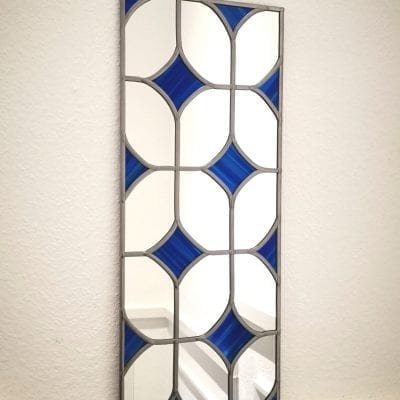 mid century diamond mirror