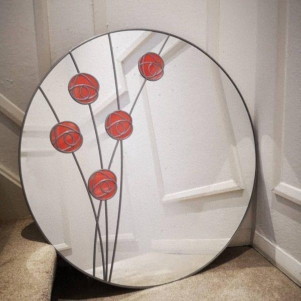 Circle Mackintosh Rose Mirror