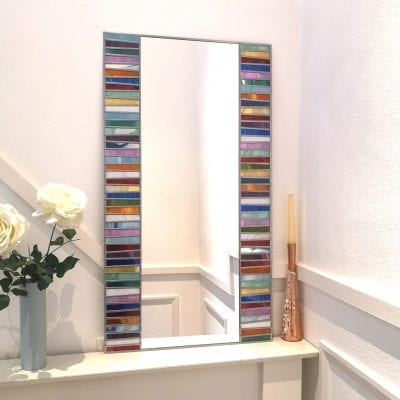 Deco Rainbow Mosaic Mirror