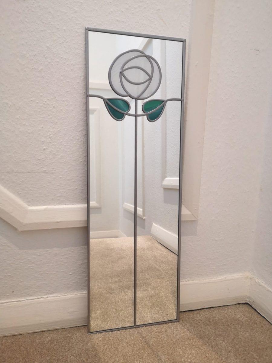 Art Nouveau Rose Mirror