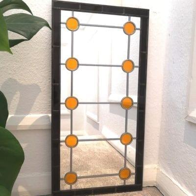 Mid Century Geometric Mirror