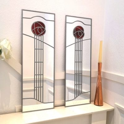 School of Art Rose Mirror Pair