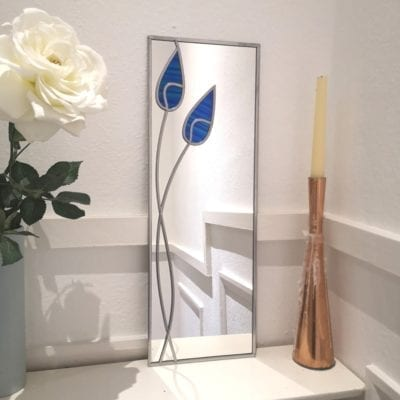 Twin Tulips Wall Mirror