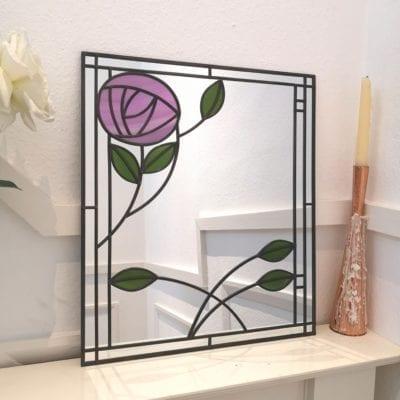 Mackintosh Rose and Leaf Mirror