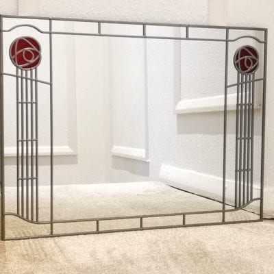 Mackintosh Twin Rose Wall Mirror