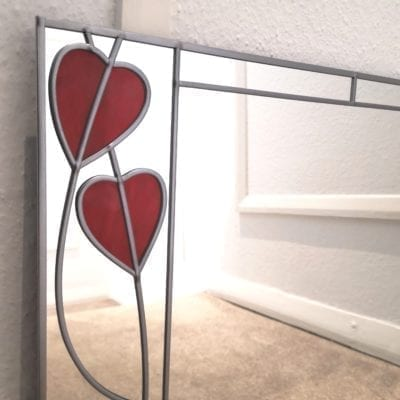 Art Deco Crossed Hearts Mirro