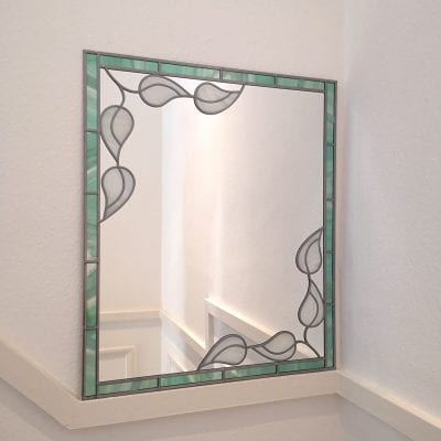 Art Deco Leaf Mirror
