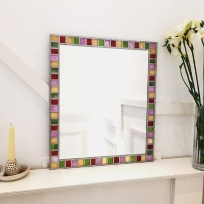 Multicoloured border mirror