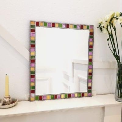 Multicoloured border mirror