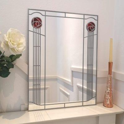Mackintosh Twin Rose Wall Mirror