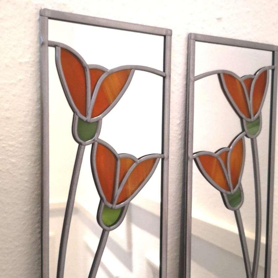 Lily Mirror Matching Pair