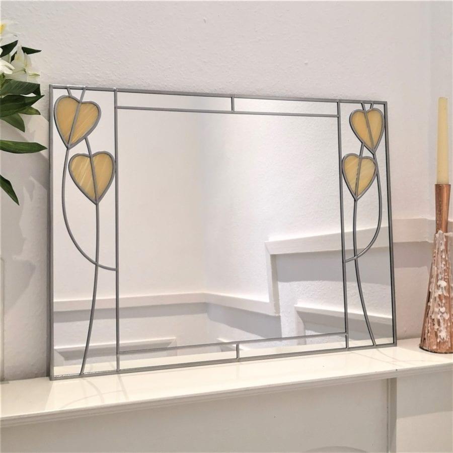 Art Deco Crossed Hearts Mirror