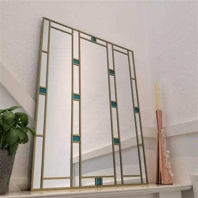 Art Deco Geometric Mirror